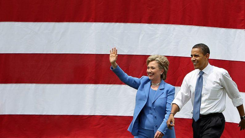 El actual presidente de EE.UU. Barack Obama y la virtual candidata Hillary Clinton. Foto: Mario Tama//Getty Images
