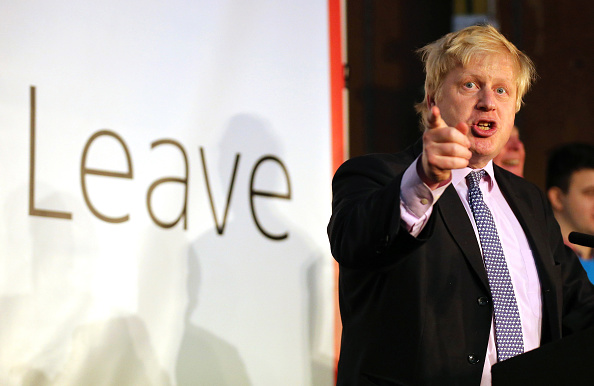Boris Johnson, ex alcalde de Londres, en campaña por el Brexit. Foto:  Christopher Furlong /Getty Images