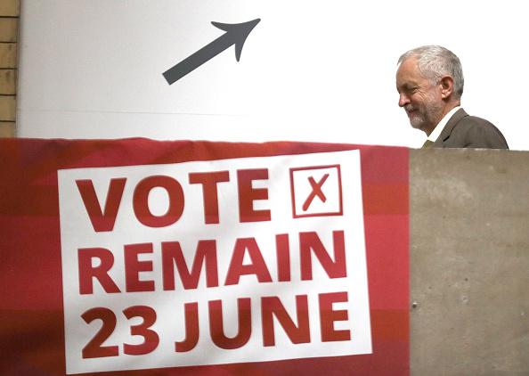 El líder laborista, Jeremy Corbyn ha sido criticado por su ambigüedad, ya que antes estaba en contra de la UE y ahora milita por su permanencia. Foto: Christopher Furlong / Getty Images