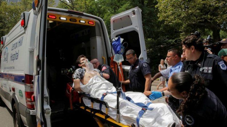 El herido sufrió lesiones en una pierna tras explosión en Central Park.