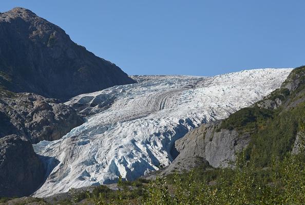 Exit Glacier en Seward, Alaska. AFP PHOTO/MANDEL NGAN (Photo credit MANDEL NGAN/AFP/Getty Images)