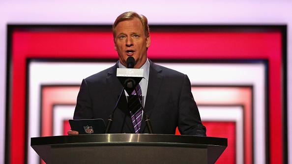 Roger Goodell anuncia sede Miami para el Super Bowl LIV (2020) (Foto por Jonathan Daniel/Getty Images)