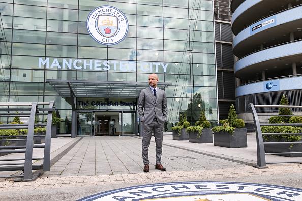 Manager del Manchester City Pep Guardiola, en Manchester, Inglaterra. (Foto por Barrington Coombs/Getty Images)