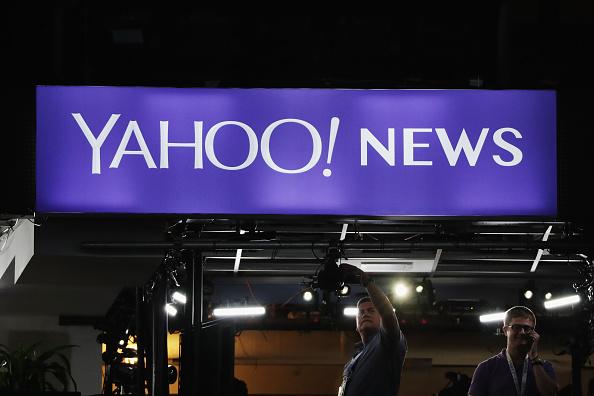 Un signo de Yahoo!. (Foto por Alex Wong/Getty Images)