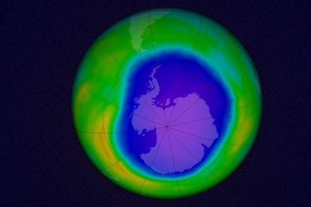 Agujero de Ozono en la Antártida el 22 de octubre de 2015.(Imagen de la NASA/ Goddard Space Flight Center)