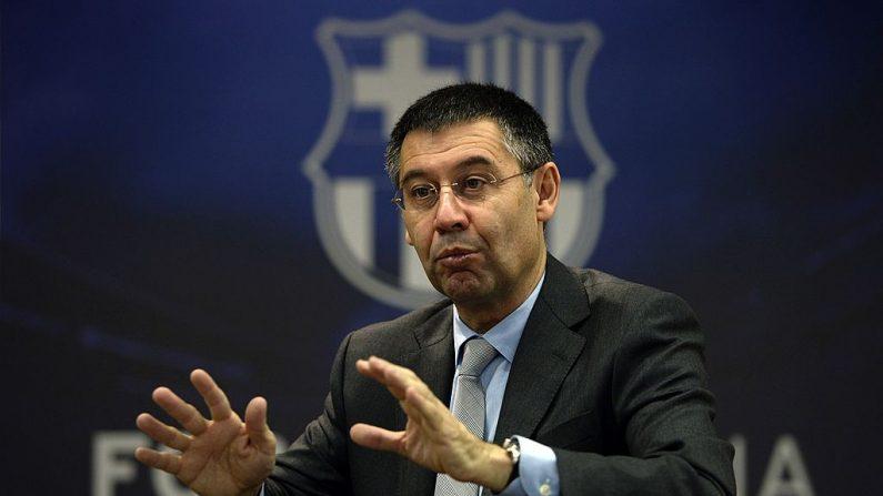 El presidente del FC Barcelona, Josep Maria Bartomeu. (LLUIS GENE / AFP / Getty Images)