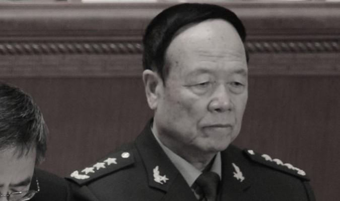 El ex vicepresidente de la Comisión Militar Central General Guo Boxiong en Beijing el 9 de marzo de 2012. Guo fue condenado a cadena perpetua por un tribunal militar chino el 25 de julio de 2016. (Goh Chai Hin/AFP/Getty Images))