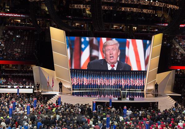 Cuarto y último día de la Convención Republicana en Cleveland. Discurso de Donald Trump el 21 de julio de 2016. Foto: Tasos Katopodis / Getty Images