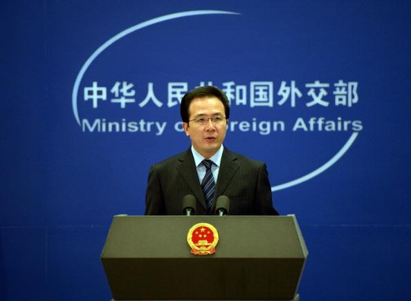 El Ministro de Exteriores de China, Hong Lei. Foto: FREDERIC J. BROWN / Getty Images