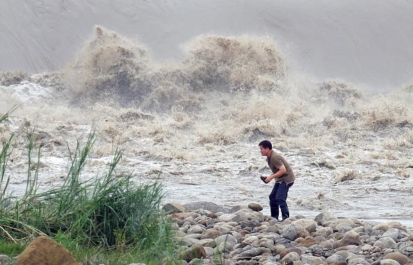 Foto de archivo, tifón de 2015 en Taiwán. SAM YEH/Getty Images