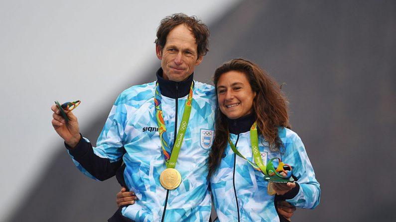 Santiago Lange y Cecilia Carranza Saroli de la Argentina (Foto por Laurence Griffiths/Getty Images)
