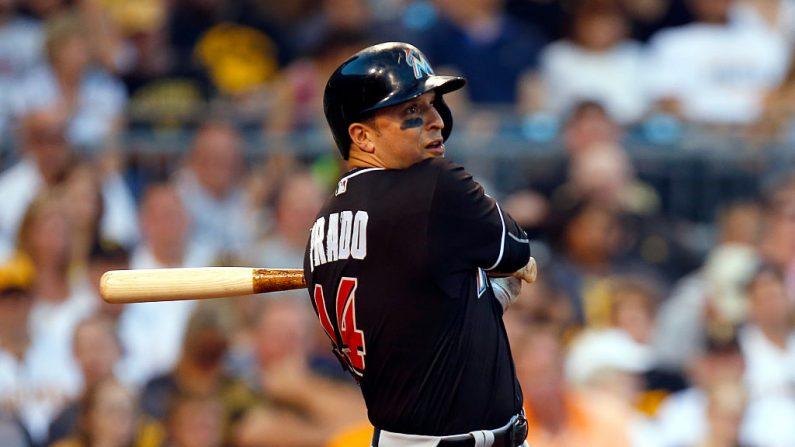 Martin Prado #14 de los Marlins de Miami. (Foto de imágenes de Justin K. Aller/Getty)