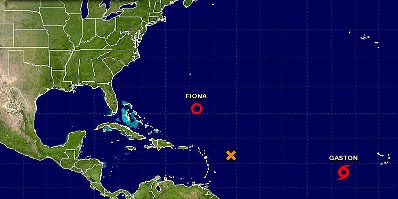 La tormenta tropical Gastón del Atlántico se podría convertir en huracán en las próximas horas. (NHC)