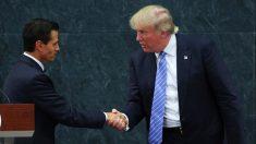 En su reunión con Peña Nieto, Donald Trump insistió con poner un muro en la frontera común