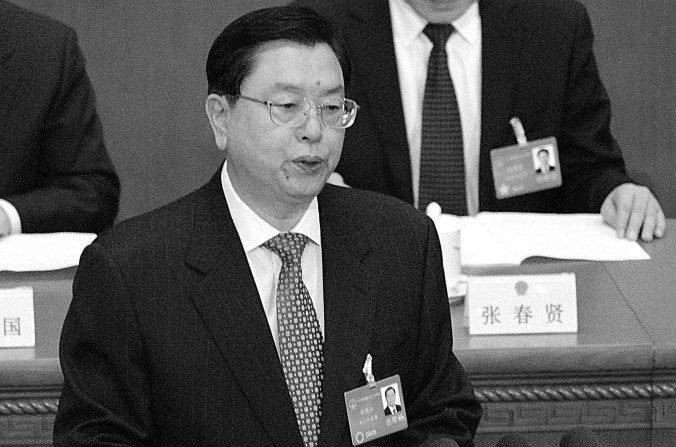 Zhang Dejiang, presidente del Comité Permanente del Congreso Popular Nacional, en una foto de archivo de marzo de 2014. (Goh Chai Hin/AFP/Getty Images)