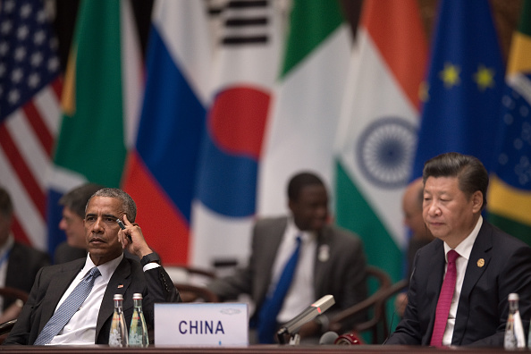 El presidente estadounidense Barack Obama y el cabecilla chino Xi Jinping durante la ceremonia de apertura de la cumbre del G-20 en Hangzhou, China. (Nicolas Asfouri - Pool/Getty Images)