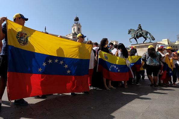 Marchas pro referéndum del mandatario venezolano Nicolás Maduro. (Foto por Oscar Gonzalez/NurPhoto via Getty Images)