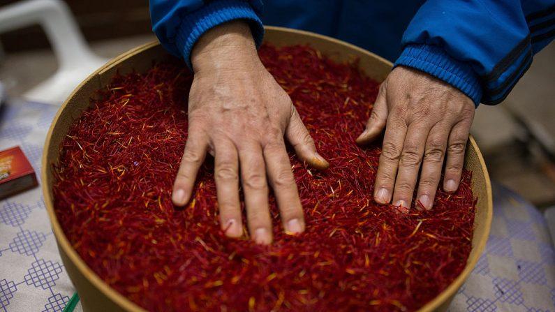 El azafrán posee numerosas propiedades medicinales que fueron reconocidas desde tiempo antigüos. (Denis Doyle/Getty Images))