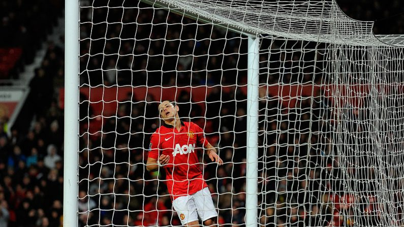 Chicharito' Hernández del Manchester United (ANDREW YATES/AFP/Getty Images)