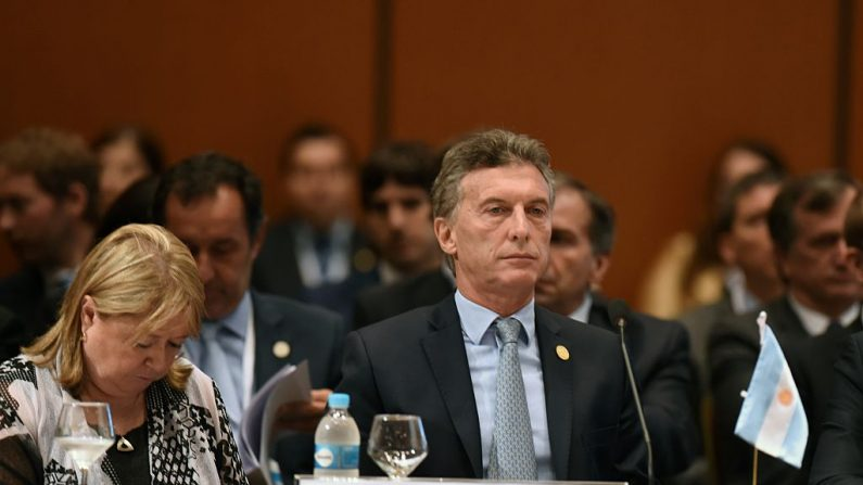 Mauricio Macri y su Canciller Susana Malcorra. (Foto: NORBERTO DUARTE/AFP/Getty Images)