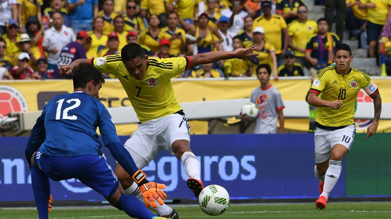 Momentos del juego Colombia – Venezuela (crédito de foto debe leer LUIS ACOSTA/AFP/Getty Images)