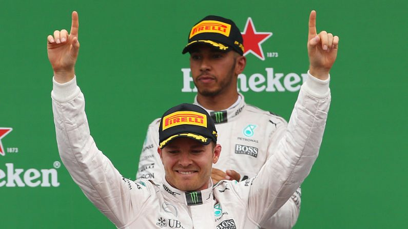 Nico Rosberg de Alemania y GP Mercedes en Monza, Italia. (Foto por Charles Coates/Getty Images)