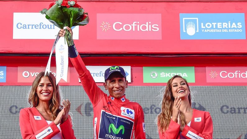 Ciclista colombiano de Movistar Nairo Quintana (foto JOSE JORDAN/AFP/Getty Images)