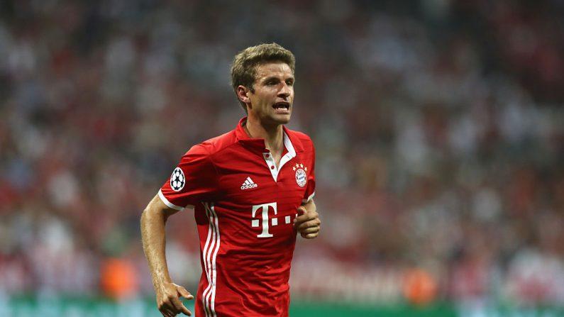 Thomas Mueller en Champions League. (Foto por Bongarts/Alexander Hassenstein/Getty Images)