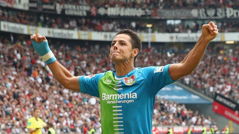 "Javier ""Chicarito"" Hernández del Bayer Leverkusen. (Alex Grimm/Bongarts/Getty Images)"