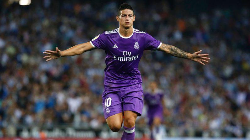 James Rodríguez del Real Madrid (foto PAU BARRENA/AFP/Getty Images)
