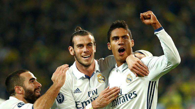 Jugadores del Real Madrid celebran gol (foto ODD ANDERSEN/AFP/Getty Images)