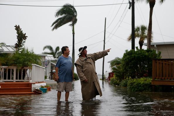 Hermine tras su paso por Florida. Foto: Brian Blanco / Getty Images
