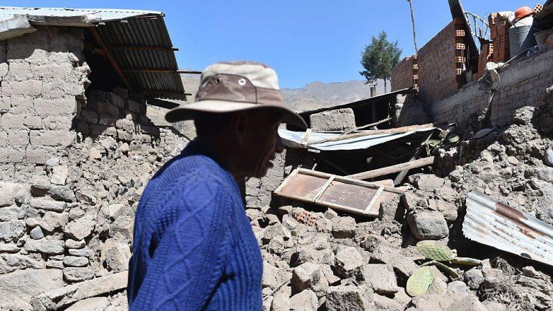 Foto de carácter ilustrativo. Terremoto del 15 de agosto en Perú. Foto: JOSE SOTOMAYOR JIMENEZ/AFP/Getty Images)