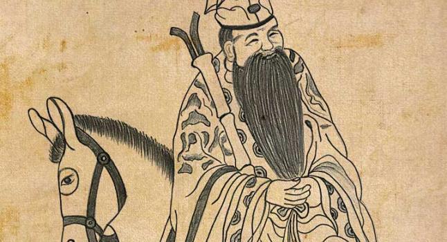 Zhang Guolao, el daoísta inmortal que montaba su burro de espaldas al frente, debido a que ya en esos tiempos creía que la moralidad de los seres humanos ya había descendido (Yeuan Fang/La Gran Época)