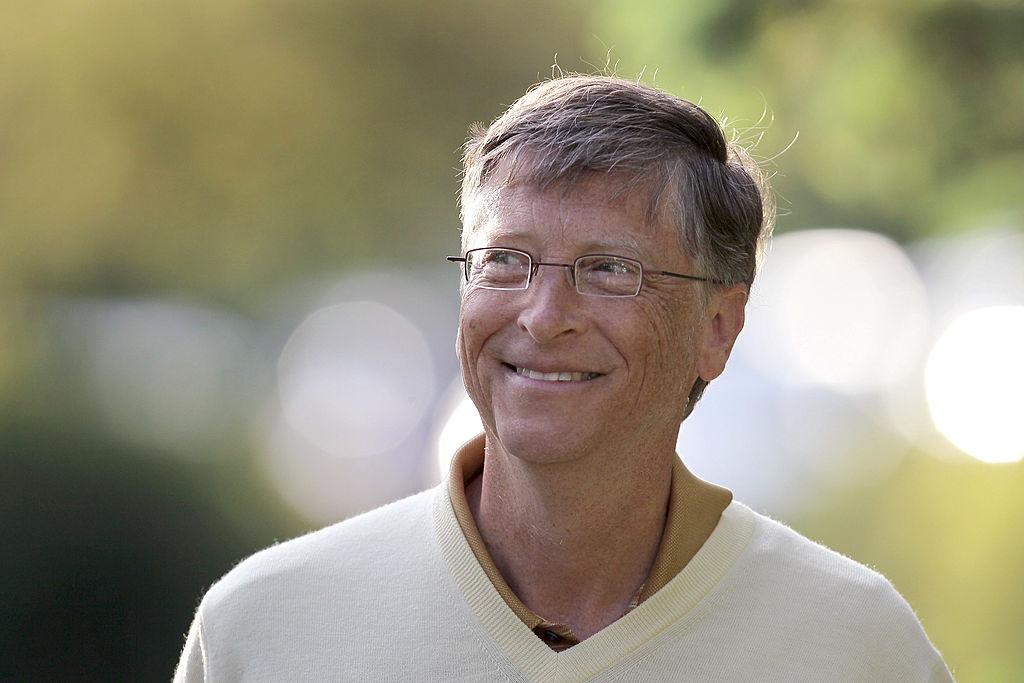 Bill Gates, Presidente de Microsoft, con fortuna de 81 mil millones de dólares. (Foto por Scott Olson/Getty Images)