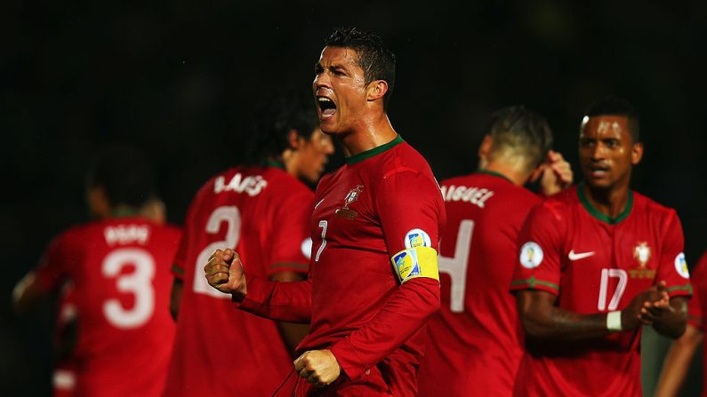 Cristiano Ronaldo de Portugal. (Foto por Bryn Lennon/Getty Images)