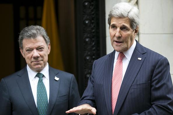"""Kerry reconoció que Colombia deberá tomar """"decisiones difíciles"""" tras el triunfo del """"no"""" en el plebiscito del domingo. (Foto: DOMINICK REUTER/AFP/Getty Images)"""