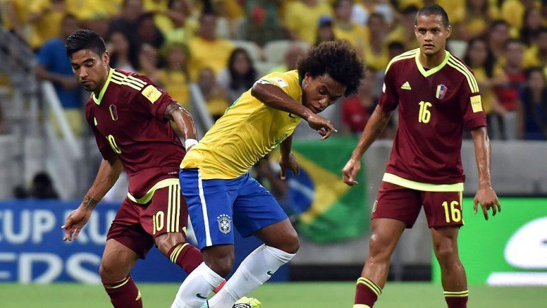 Brasil se enfrentó a Venezuela (foto NELSON ALMEIDA/AFP/Getty Images)