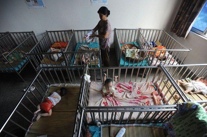 Un orfanato de Wuhu, provincia china de Anhui, agosto de 2009. (AFP/AFP/Getty Images)