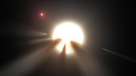 Dibujo artístico de una misteriosa estrella de la Vía Láctea. (NASA/JPL)