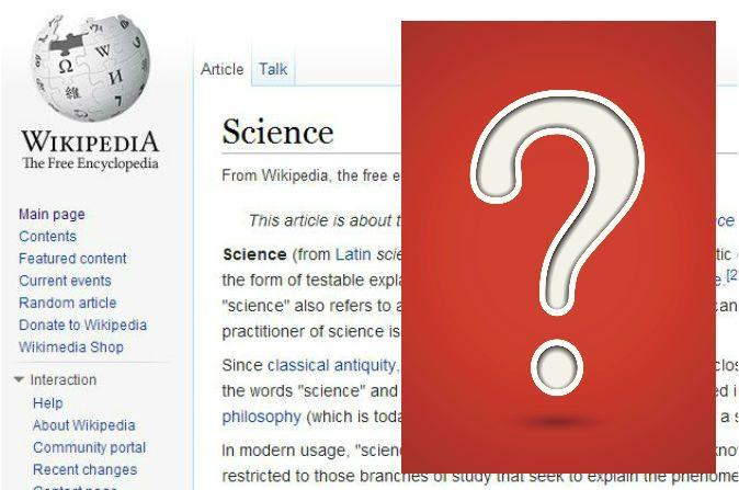 Editores de Wikipedia tienen mucho poder para dar forma al entendimiento público en general. ¿Confía en ellos? (Captura/Wikipedia.com; Signo de interrogación a través de Thinkstock)
