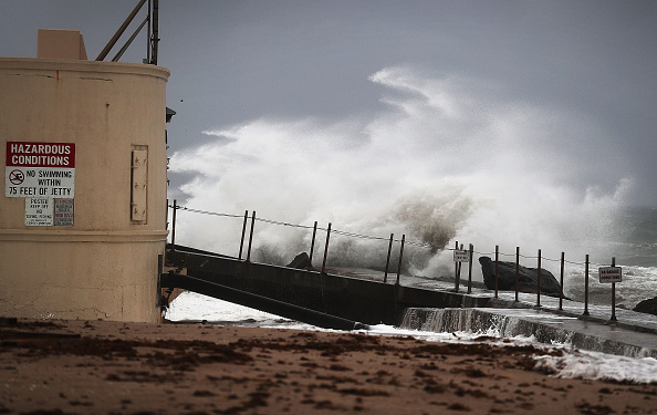 Huracán Matthew en Florida. (Photo by Joe Raedle/Getty Images)