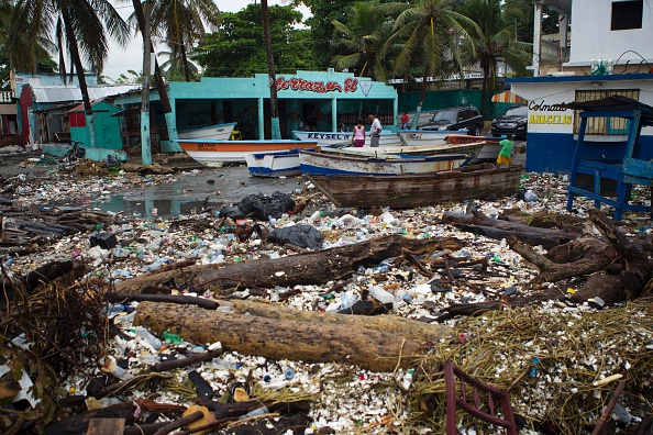 Lo que dejó el Huracán Matthew tras su paso por República Dominicana.  (ERIKA SANTELICES/AFP/Getty Images)