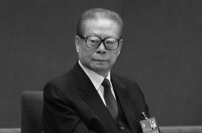 El ex líder chino Jiang Zemin en el Gran Salón del Pueblo el 8 de Noviembre del 2012 en Beijing. (Feng Li / Getty Images)