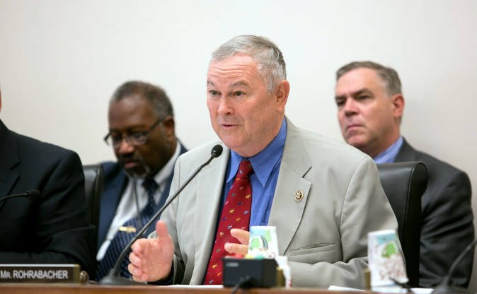 Dana Rohrabacher. (Lisa Fan/Epoch Times)