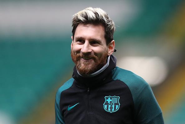 Lionel Messi del Barcelona entrenando antes del partido ante Celtic FC por la UEFA Champions League en Glasgow, Escocia. (Ian MacNicol/Getty Images)