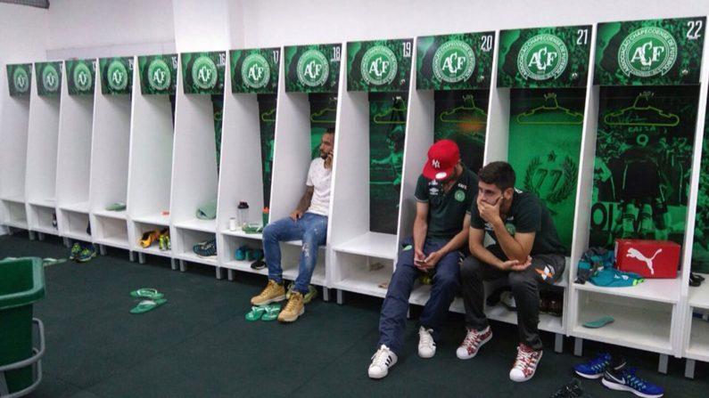 Jugadores del Chapecoense que no viajaron a Medellín (Gentileza: DC Esportes)