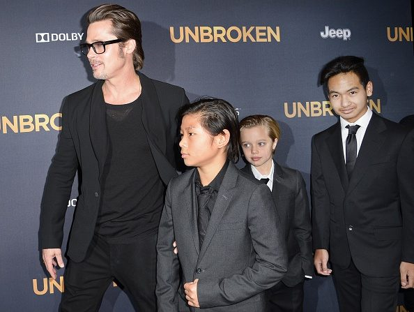 Los hijos de la popular pareja son tres adoptados, el camboyano Maddox, el vietnamita Pax y la etíope Zahara, y tres biológicos, Shiloh y los gemelos Knox y Vivienne. (Foto: ROBYN BECK/AFP/Getty Images)