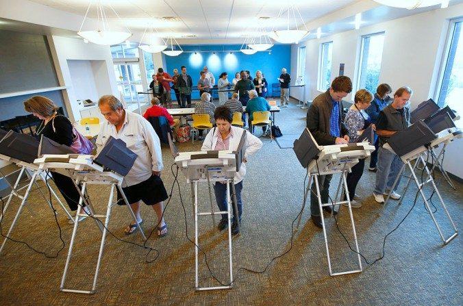 Un centro de votación en Provo, Utah. (George Frey/Getty Images)