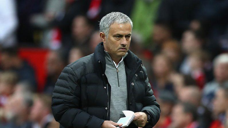 José Mourinho, Manager del Manchester United, Inglaterra. (Foto por Mark Robinson/Getty Images)